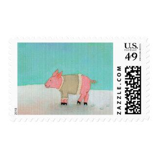Suéter caliente del cerdo del arte del invierno de franqueo