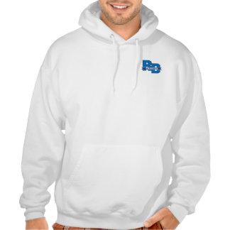 Suéter con capucha de la carta de la impulsión de sudadera pullover