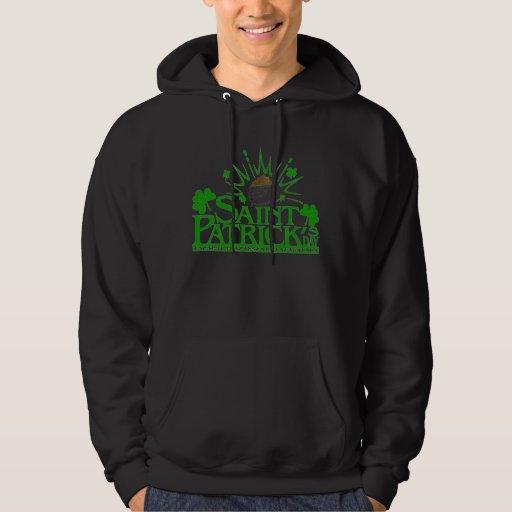 Suéter con capucha del pote del oro de St Patrick