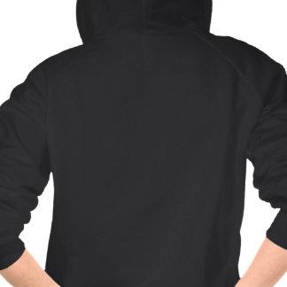 Suéter con capucha lindo de la cremallera del búho camisetas