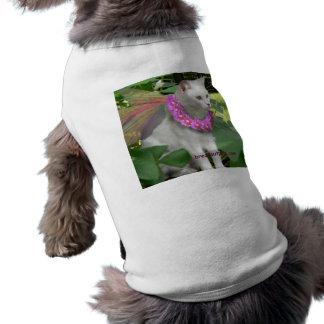 Suéter de hadas lindo del mascota del tema del gat playera sin mangas para perro