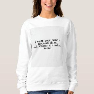 Suéter de la cita del amor