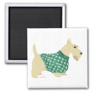Suéter de trigo de Terrier del escocés Imán De Nevera