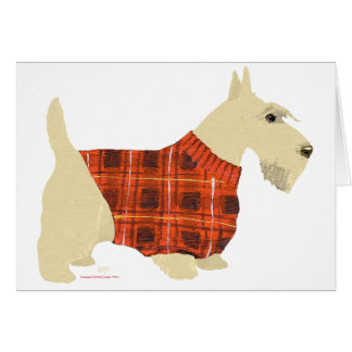 Suéter de trigo de Terrier del escocés Felicitacion