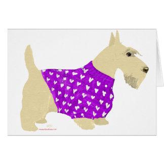 Suéter de trigo de Terrier del escocés Tarjetón
