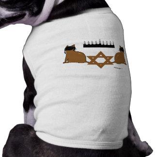 Suéter del mascota de los gatos de Chanukah Ropa De Mascota