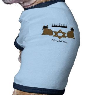 Suéter del mascota de los gatos de Chanukah Camisetas De Perrito