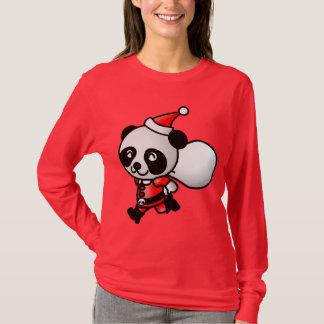 Suéter del navidad de la panda de Santa
