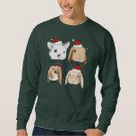 Suéter del navidad del manojo del conejito sudadera