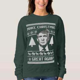 Suéter del navidad del triunfo - haga navidad gran