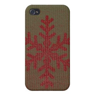 Suéter del navidad iPhone 4 carcasa