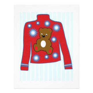 Suéter del oso de peluche membrete personalizado