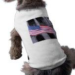 Suéter del perro de la bandera americana camisa de perro