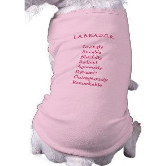 """Suéter del perro de la """"personalidad """" del labrado playera sin mangas para perro"""