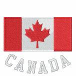 Suéter encapuchado básico bordado de Canadá