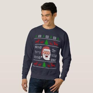 Suéter feo borracho del navidad de Santa