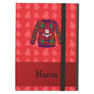 Suéter feo conocido personalizado del navidad