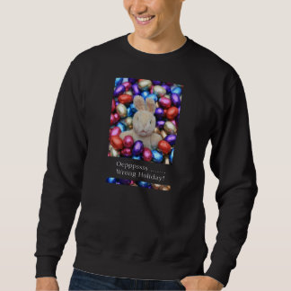 Suéter feo de Navidad del día de fiesta incorrecto Sudadera