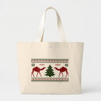 Suéter feo del día de chepa del camello del navida bolsas de mano