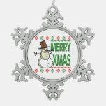 Suéter feo del feliz muñeco de nieve de Navidad Adornos