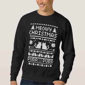 Suéter feo del gato del día de fiesta del navidad