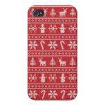 Suéter feo del invierno iPhone 4/4S fundas