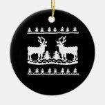 Suéter feo del navidad adorno de reyes