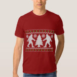 Suéter feo del navidad de Bigfoot del día de Playeras