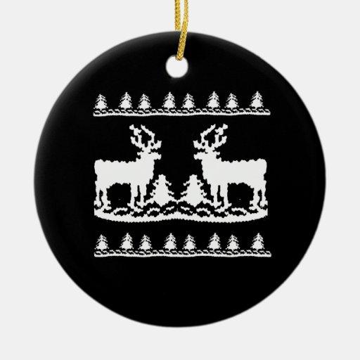 Suéter feo del navidad - ornamento de navidad