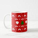 Suéter feo del navidad del bigote taza de café