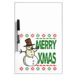 Suéter feo del navidad del feliz muñeco de nieve d tableros blancos
