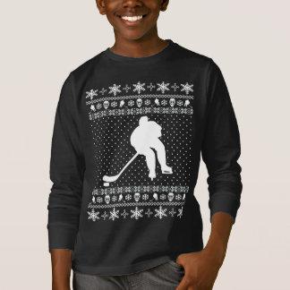 Suéter feo del navidad del hockey