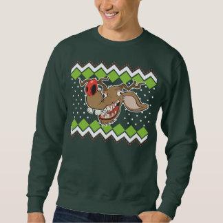 Suéter feo del navidad del reno feo pull over sudadera