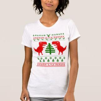 Suéter feo del navidad del rex de T Camiseta