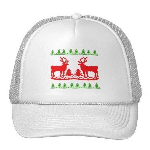 Suéter feo del navidad gorras de camionero