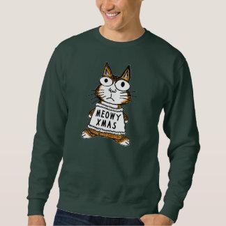 Suéter feo del navidad -- Navidad de Meowy Pulovers Sudaderas