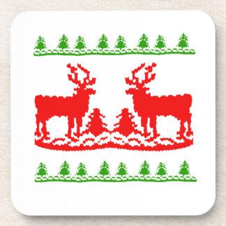 Suéter feo del navidad posavaso