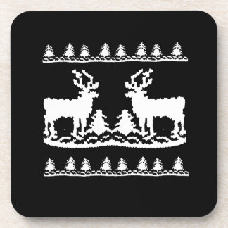 Suéter feo del navidad - posavasos de bebidas
