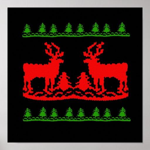 Suéter feo del navidad poster