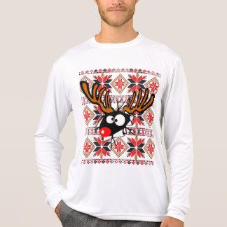 Suéter feo del navidad que revienta a través