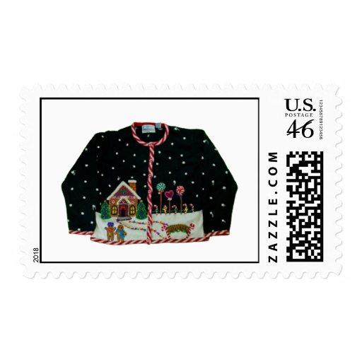 Suéter feo del navidad sellos