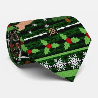 Suéter feo divertido del navidad corbatas