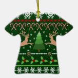 Suéter feo divertido del navidad ornamentos de reyes