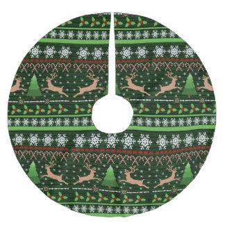 Suéter feo divertido del navidad inspirado falda para arbol de navidad de poliéster