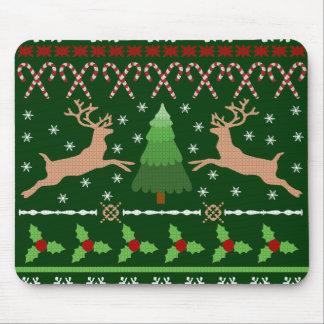 Suéter feo divertido del navidad tapete de raton