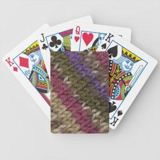 Suéter hecho punto pasado de moda cartas de juego