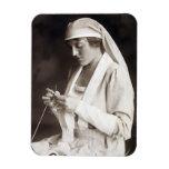 Suéter que hace punto de la enfermera de WWI Iman Flexible