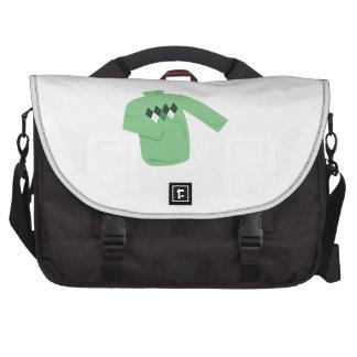Suéter verde bolsa de ordenador