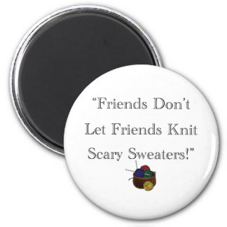 ¡Suéteres asustadizos! Imán Redondo 5 Cm
