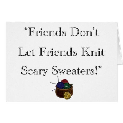 ¡Suéteres asustadizos! Tarjeta De Felicitación